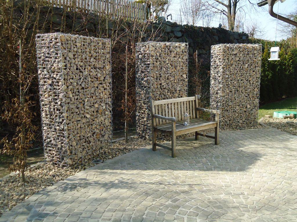 Mauerbau gabionen garten und landschaftsbau thomas wahl - Garten gabionen ...